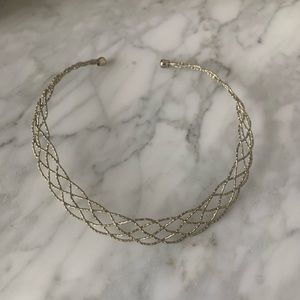 Kenneth Jay Lane Gold plated collar necklace